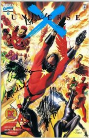 Universe X #0 Dynamic Forces Signed x4 Alex Ross DF COA Marvel comic book